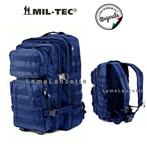 MIL-TEC US Assault Zaino militare, Blu scuro (Dark Blau), L (36 Lt)