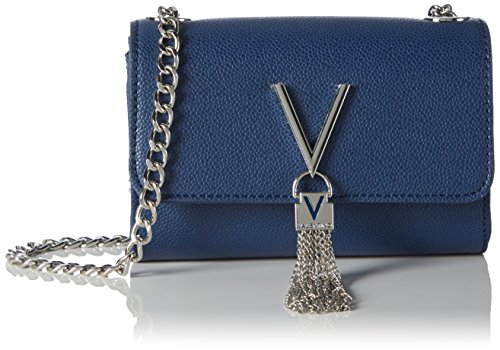 Mario Valentino Valentino by Damen Divina Clutch, Blau (blu), 4x11.5x17 cm