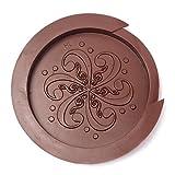 #3: SANNYSIS Guitar Sound Hole Cover to Halt Feedback buster Prevention Rubber (Brown)
