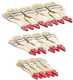 AGT Pinsel-Set: 30-teiliges Flachpinsel-Set mit Holzstielen und Naturborsten