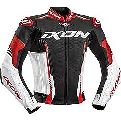Ixon Blouson moto Vortex 2 Jkt NOIR/BLANC/ROUGE, Noir/Blanc/Rouge, M