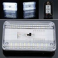 Mengonee 36 LED del rectángulo del techo del coche del automóvil cubierta Reading Lights Auto plástico ABS bombillas de color blanco DC 12V Lámparas