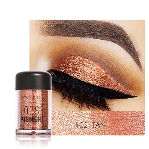 Wanshop Eye Shadow, Eyeshadow Palette, 12 Colors Eye Shadow Makeup Pearl Metallic Eyeshadow Palette (B)