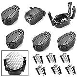Cettkowns 6-Pack Golf Ball Pick Up Tool Saver Putter Grip Retriever Mini Foldable