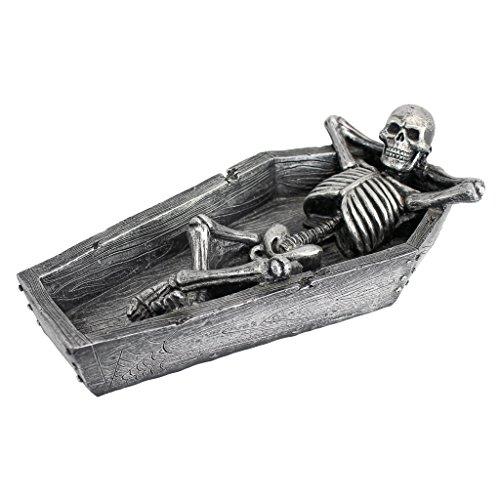 Design Toscano Halloween Resting HIS Weary Knochen Skelett allumfassendes Skulptur
