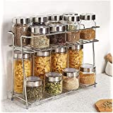 CR18 COLLECTION Stainless Steel Kitchen Rack, Kitchen Organizer and Space Saver, Counter top Stainless Steel Kitchen Stand 2-