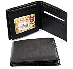 Holboro Genuine High Quality Mens PU Leather Wallet + Belt