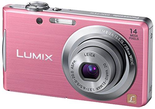 Panasonic Lumix DMC-FS16EG-P Digitalkamera (14 Megapixel, 4-fach opt. Zoom, 6,7 cm (2,7 Zoll) Display, bildstabilisiert) pink