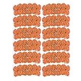 EVRYLON Fiori per bomboniere Fai da Te Matrimonio Arancioni Fiorellini con Organza a Forma di Rosa Pezzi 144