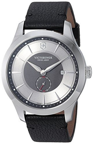 Victorinox Herren Analog Quarz Uhr mit Leder Armband 241765