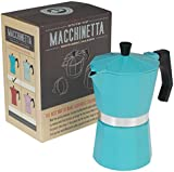 Classic Espresso Coffee Pot - Choice Of Colour ( Turquoise )