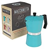 51zMneA6DVL. SL160  - BEST BUY #1 Classic Espresso Coffee Pot - Choice Of Colour ( Turquoise ) Reviews and price compare uk