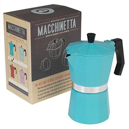 Classic Espresso Coffee Pot – Choice Of Colour ( Turquoise ) 51zMneA6DVL