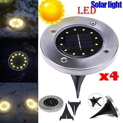 DIKHBJWQ LED-Solarstrom begrabenes Licht unter Bodenlampe im Freienweg-Weg-Garten-Decking (Lichterkette/Light/Tischlampe/Nachttischlampe/Nachtlicht)