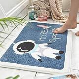 Tappetini da bagno antiscivolo assorbente Tappetino Tappetino per bagno Ingresso tappetino pavimento camera da letto cucina bagno bagno tappetino assorbente (Color : A-45 * 65CM)