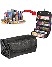 Harshita Roll N Go Travel Cosmetic Make Up Jewellery Toiletry Foldable Bag Organizer