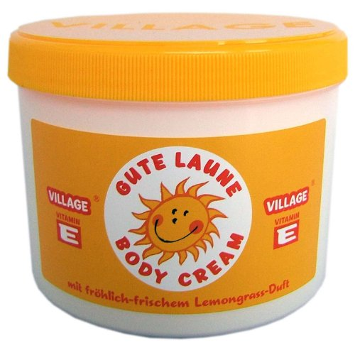 Village Cosmetics Gute Laune Bodycream mit Vitamin E, 500 ml