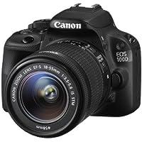 Canon EOS 100D SLR-Digitalkamera (18 Megapixel, 7,6 cm (3 Zoll) Touchscreen, Full HD, Live-View) Kit inkl. EF-S 18-55mm 1:3,5-5,6 IS STM