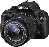 Canon EOS 100D Fotocamera Reflex Digitale, 18 Megapixel con Obiettivo EF-S 18-55mm IS STM, Nero
