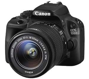 Canon EOS 100D Appareil photo numérique Réflex 18,4 Mpix Kit Boîtier + Objectif EF-S 18-55 mm IS STM f/3.5-5.6 Noir