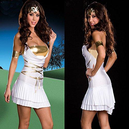 ween-Kostüm Ägypten, arabischen Kriegerprinzessin Kleid passt Diskothek Kleidung Rollenspiel -Service ()