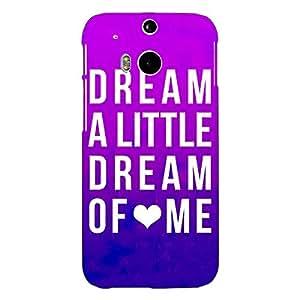 Jugaaduu Dream Love Back Cover Case For HTC One M8