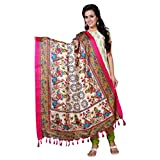#4: Applecreation Dupatta For Women Traditonal Printed Only Dupatta & Stoles -Off-White
