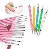 nail art tool, Beikoard, 20PCS nail art design dotting painting Drawing Polish Brush Pen Tools