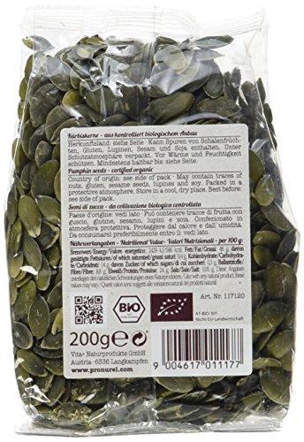 Verival Kürbiskerne - Bio, 3er Pack (3 x 200 g Beutel) - Bio
