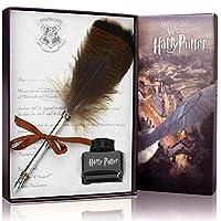 Feather Pen CAPMESSO Antique Dip Feather Pen Set Calligraphy Pen Set Writing Quill Ink Dip Pen