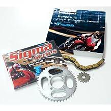 Tsubaki 530200101 - Kit de transmisión para Honda CBR1100XX (modelos 97-, cadena 530 Sigma XRG 17/44)