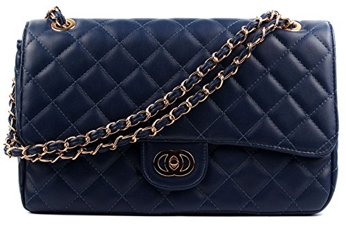 aossta-womens-large-faux-leather-quilted-twist-lock-shoulder-bag-6020-navy