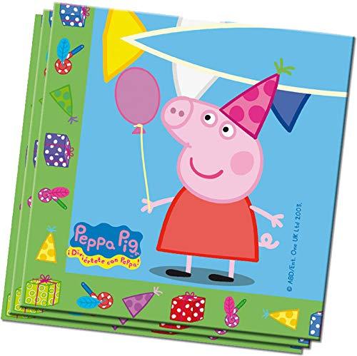 20 Servietten * Peppa Pig * für Kindergeburtstag und Mottoparty | Napkins Papierservietten Kinder Geburtstag Pepper Wutz