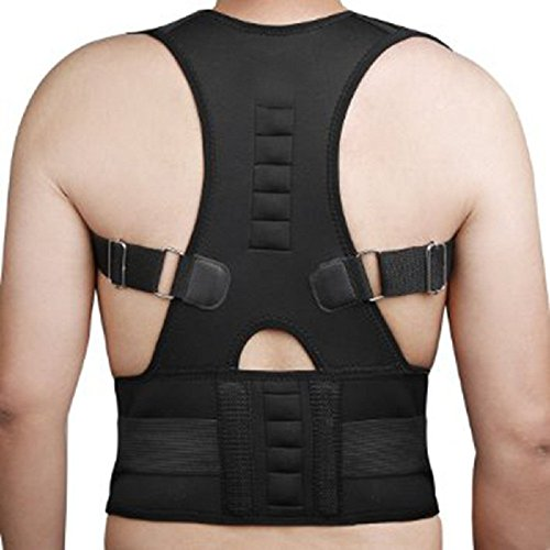 Magnetische Schulter Brace (aptoco verstellbar haltungskorrekturbandage magnetisch Position, Korrektur Hosenträger Unterstützt Rücken Gürtel Unterstützung Korsett Rücken Lendenbereich Schulter Corrector Größe M)