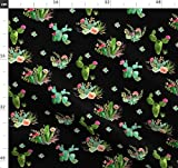 Kaktus, Blumen, Grün, Sukkulenten, Rosa, Western Stoffe -
