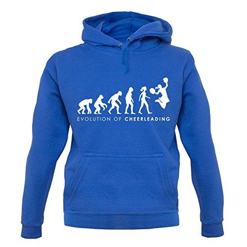 Cheerdance Blau Kostüm (Evolution of Woman - Cheerleading - Unisex Hoodie/Kapuzenpullover - Blau -)