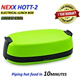 Nexx Hott-2 Leak Proof Electric Lunch Box For Office, 740 Ml, Set Of 2, Green, Made In India