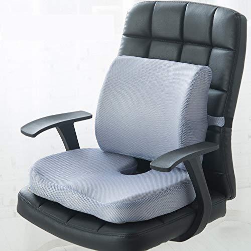 ZXZXZX Sitzkissen, Orthopädisches Sitzkissen zur Entlastung von Bandscheiben und gegen Rückenschmerzen - Ergonomisches Sitzkissen für Bürostuhl I Rollstuhl sowie Steißbein