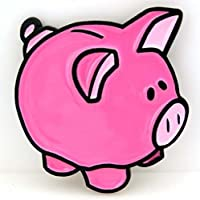 Fibbia Maiale Rosa, Rosa Maiale, maiale, piggy bank