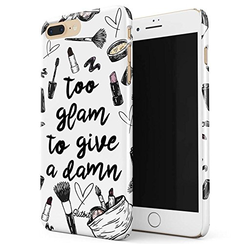 Glitbit Too Glam To Give A Damn Funny Tumblr Quotes Makeup Nail Slay Sassy Glam Girl Highlight Dünn Robuste Rückschale aus Kunststoff Für iPhone 7 Plus / 8 Plus Schutzhülle Schutz Hülle Case Cover Iphone Case Make-up