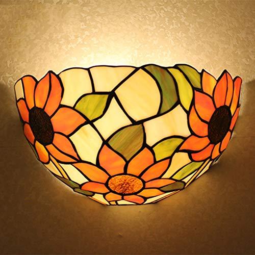 Tiffany Lamp Sunflowers Set Wandleuchten Deckenleuchte Pendelleuchte Stehleuchte TLS-017,12InchWallLights