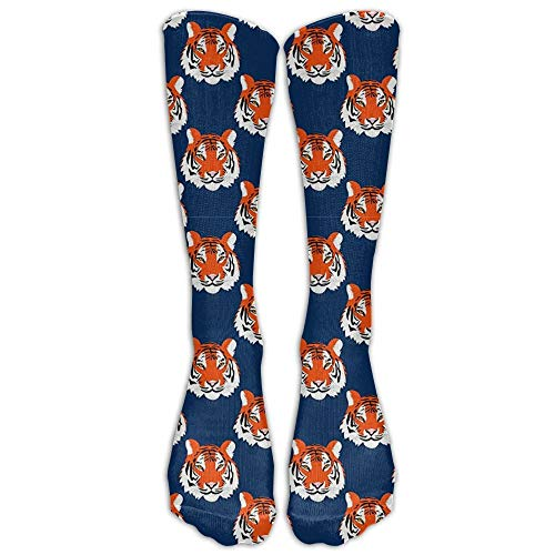 saibing Jungle Tigers In Auburn Colors Knee High Graduated Compression Socks For Women And Men - Best Medical, Nursing, Travel & Flight Socks - Running & Fitness -