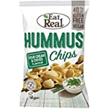 Eat Real Hummus Chips Sour Cream Chives 45g (Pack of 12)
