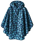 Summer Mae Manteau Imperméable Léger pour Enfants-Vêtements de Pluie Veste de Poncho Fleur Bleue M...