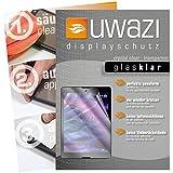 uwazi I 3X Glas-klare Schutzfolie für Medion Lifetab P9702 Displayschutzfolie I Folie I Anti Fingerabdruck I Anti Kratzer