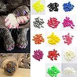 Pixnor 20pcs morbido gatto copertine zampe del cane tappi Pet chiodo Caps artiglio controllo fuori (colore casuale)