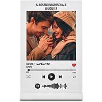 Babloo Targa Musica Personalizzata con Foto Nomi e Canzoni Stampa UV su Plexiglass Acrilico Trasparente con codice…