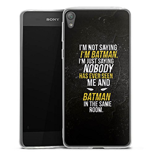 Sony Xperia E5 slim case Coque de protection en silicone Design Batman Statement