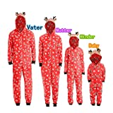Familie Schlafanzug Pyjama Weihnachten Baby Kinder Mama Papa Xmas Rentier Hausanzug Nachtwäsche Schlafanzug Pyjama Set Jumpsuit ABsoar Familienanzug Pyjamas