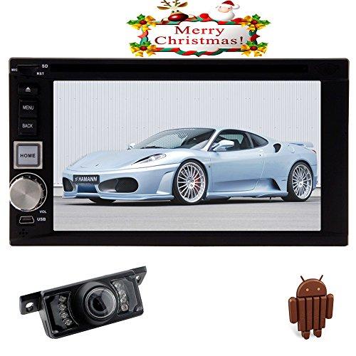 Android 5.1 Lollipop GPS Double Moniteur Din Récepteur Radio Bluetooth vidéo stéréo Voiture USB SD Voiture Lecteur DVD Audio Headunit Autoradio FM AM 7 Pouces Sub AMP Mirror RDS Lien Caméra